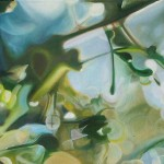 a different focus, soft focus botanical paintings, blurred paintings, blurred foliage