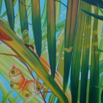 butterfly, fantasy botanical paintings, glass butterflies, fantasy garden