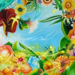 Garden with Angelets $950 Oil on canvas 90 *90 cm