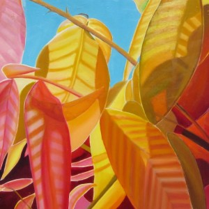 Glorious Leaves $850 Oil on canvas 100 * 75cm