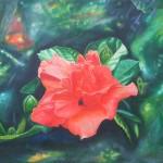 hibiscus, botanical paintings, hibiscus paintings, macro flower