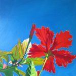 Ultra hibiscus $590 Oil on canvas 100 * 75 cm