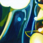 Pond abstraction, lilies, botanical abstraction,