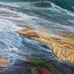 Glistening pool. $960 Oil on canvas 90 * 60 cm
