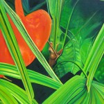 tropical grove, succulent, tropical, botanical paintings, macro garden, realism,