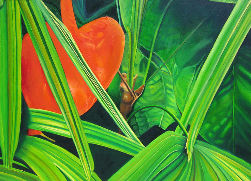 tropical grove, succulent, tropical, botanical paintings, macro garden, realism,