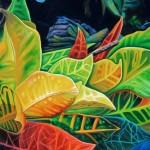 tropical extravaganza, croton, tropical leaves, coleus,