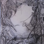 black and white drawings, masters works, swirling lines,