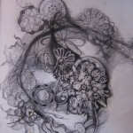 frottage, eternity, circles, pencil drawings, symbolic drawings,