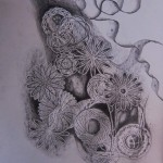 Mathematical Bouquet, black and white drawings, pencil drawings, eternity drawings, matrimony,