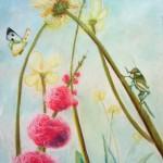 botanical drawings, garden, macro garden, sunlight drawing