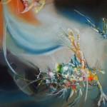 Bird of Paradise, Cosmic bird of paradise, abstract bird, surreal bird,