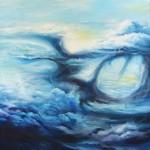 Breath, sky paintings, cloud paintings, blue clouds