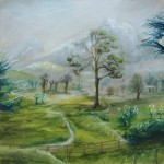 green pastures, green landscape, pastel drawings, pastel, pastel sketches, landscape drawings, landscape sketches, green landscape drawings, green landscape sketches