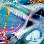 organ, underwater paintings, surreal underwater paintings,