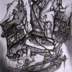 The Happy Dream, eternity drawings, dream drawings, fantasy drawings,