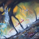 unicorn, abstract surreal paintings, abstract unicorn,
