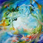 the window, window paintings, cosmic paintings, vortex paintings,