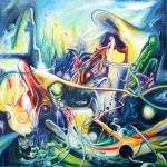 the young fisherman's dream, dream paintings, junkyard, junkyard painting,