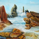 marine paintings, seashore paintings, surf paintings, wave paintings, seascape,