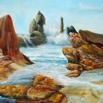 marine paintings, seashore paintings, surf paintings, wave paintings, seascape,