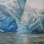 ice paintings, pastel marine paintings, pastel ice paintings, iceberg paintings,