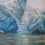 ice paintings, pastel marine paintings, pastel ice paintings, iceberg paintings,