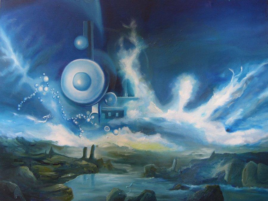Blue $1250 Oil on canvas 100 * 75 cm