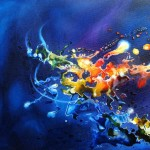 splash, mixed media surreal paintings, surreal paintings, splash paintings, cosmic paintings,