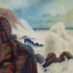 fury, seascape, pastel marine paintings, surf paintings, wave paintings,