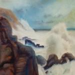 fury, seascape, pastel marine paintings, surf paintings, wave paintings,