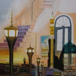 Haven, sanctuary, architecture paintings, masters works,