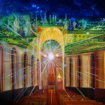 If Only They Could Discern, church interior, celestial city, celestial city paintings,