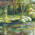 lagoon, Wagga Wagga, lagoon paintings, river paintings,