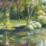 lagoon, Wagga Wagga, lagoon paintings, river paintings,