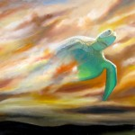 modern deity, spiritual paintings, turtle, mega turtle,