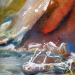 On The Rim, cliff edge, sci fi paintings, another planet