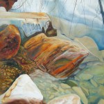 organic carvings, rock paintings, rocks, grey and brown,