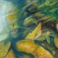 pond, pond paintings, Sawtell, Sawtell Art prize, pond painting, transparent water,