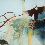 bird paintings, bird ghosts, water paintings, water rocks and birds,