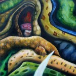 The Tear, teardrop, snakes, Christian story paintings, snake paintings,