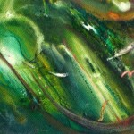 Underwater Eternity, green fantasy paintings, cathedral, underwater cathedral