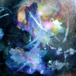 Vortex, tornado, abstract mixed media paintings,