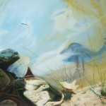 water and light, water landscape paintings, surreal landscape paintings, water and rock paintings,