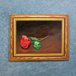 A Painting is a Painting, a rose is a rose, paintings of paintings, painting on a wall