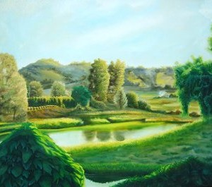 landscape paintings, landscape, Bellingen, farmland, farmlands, river paintings, landscape and light, rural paintings,
