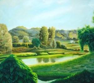 landscape paintings, landscape, Bellingen, farmland, farmlands, river paintings, landscape and light, rural paintings,