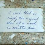 The Note, semiotics, signs, semiotics painting, idea paintings,