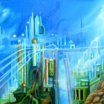 Blue Heaven, fantasy city, misty heavens, celestial city,