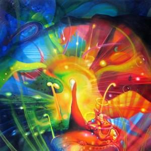 illuminate, peacock, light painting